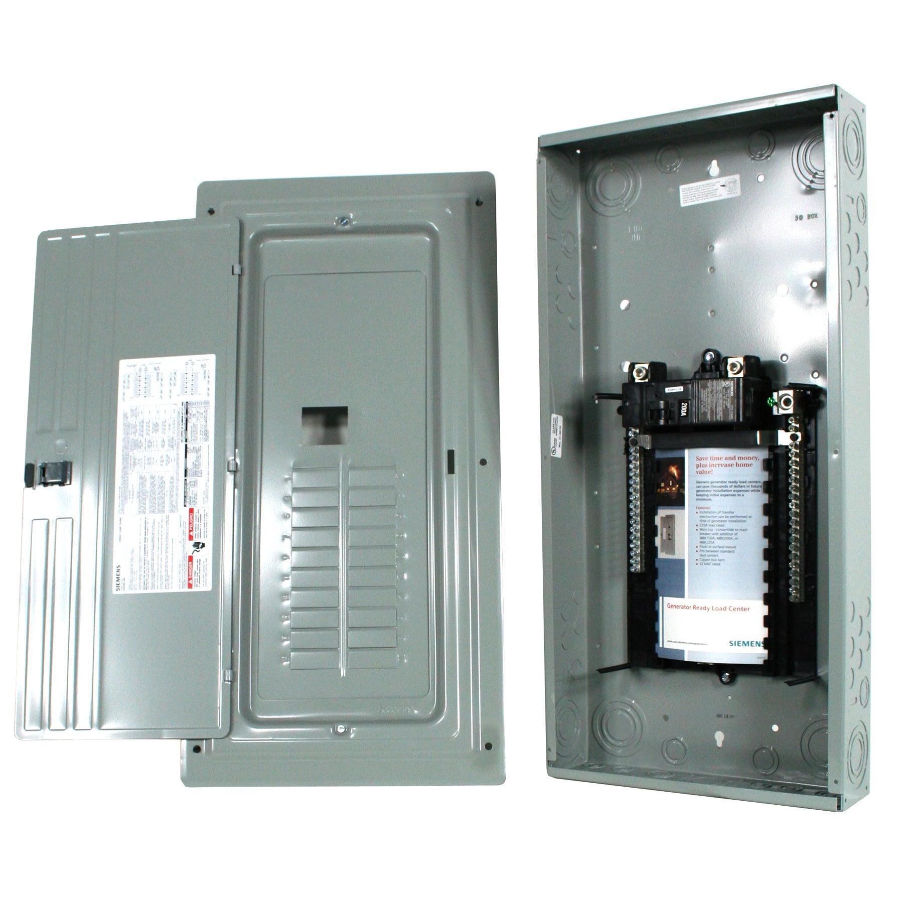 Siemens ES 200 amps 20 space 40 circuits 120/240 volts Su...