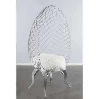 Metal Egg Chair With Sheep Skin