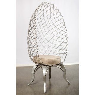 Egg Chair with Upholstered Seat