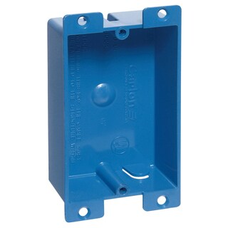 Carlon 3-5/8 in. H Rectangle 1 Gang Outlet Box Blue PVC