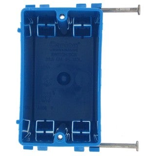 Carlon 3-3/4 in. H Rectangle 1 Gang Outlet Box Blue PVC