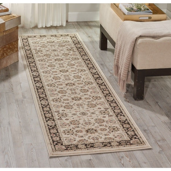 Nourison Ararat Ivory/Grey Area Rug (2'2 x 7'6)