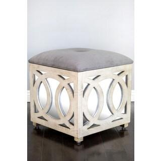 Tyra Mirrored Storage Ottoman