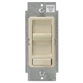 Leviton R61-06674-P0T Light Almond Decora Sureslide Dimmer