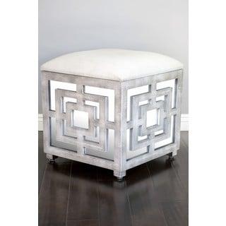 Reena Mirrored Storage Ottoman