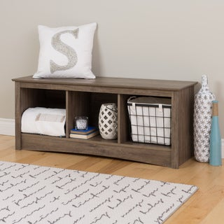 PREPAC Drifted Grey Wood Cubby Bench