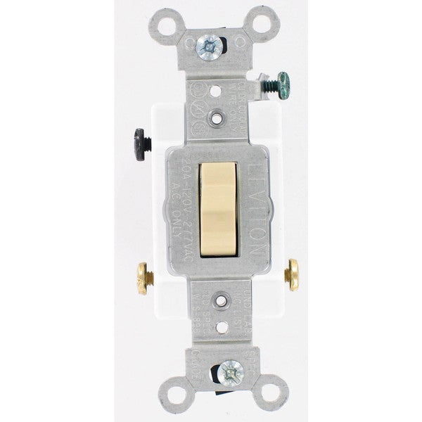Leviton S03-CS320-2IS Ivory Commercial Grade 3-Way AC Quiet Switches Toggle