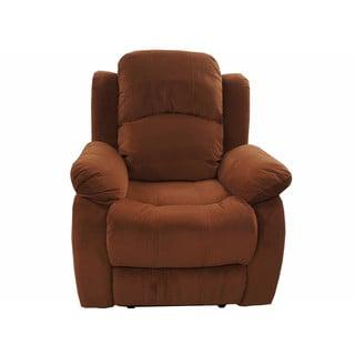 Traditional Brown Brush Microfiber Recliner Chair