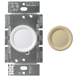 Lutron DNG-600PH-DK White Dimmer With Night Light 2-count