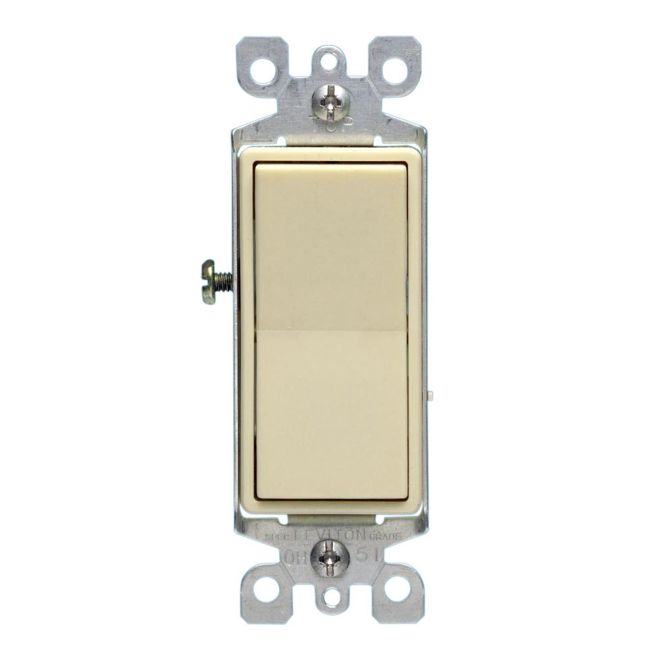 Leviton S11-05611-2IS 15 Amp Almond Color Illuminated Light Switch (Switches&wallplates)