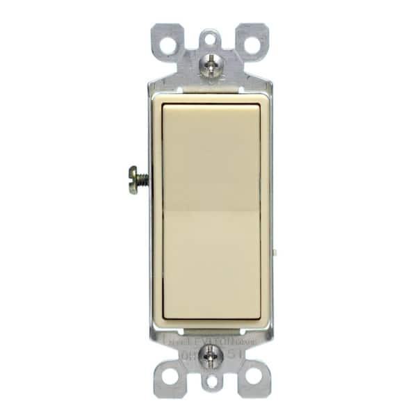 Shop Leviton S11 05611 2is 15 Amp Almond Color Illuminated Light Switch On Sale Overstock 12371169