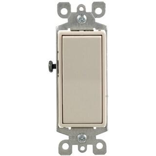 Leviton S16-05603-2TS Light Almond 3 Way 15 Amp Rocker Switch