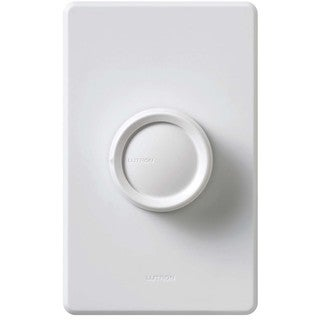Lutron D-600PH-DK 600 Watt Diva Single Pole Push Rotating Dimmer