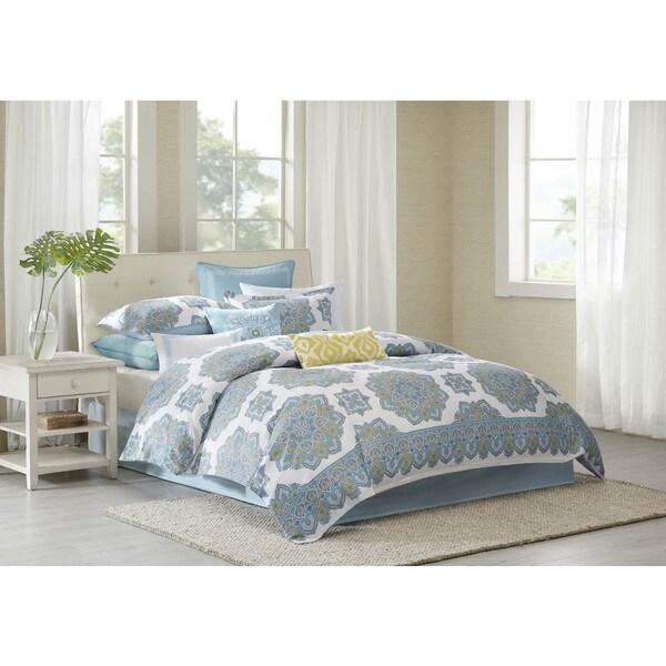 Echo Design™ Indira Aqua Cotton Comforter Set