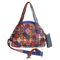 Amerileather Marlow Multicolor Leather Tote Bag