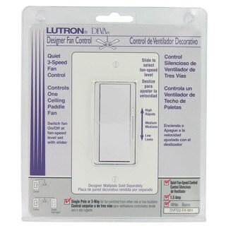 Lutron DVFSQ-FH-WH 3 Speed White Diva Quiet Fan Control