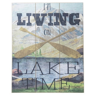 Boston Warehouse 'Living On Lake Time' Slatwall Sign