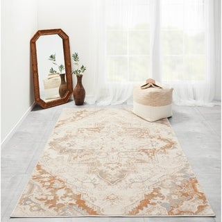 "Machine-Made Kingsley Palace Polyester with Polypropylene Rug (7'10"" x 9'10"")"