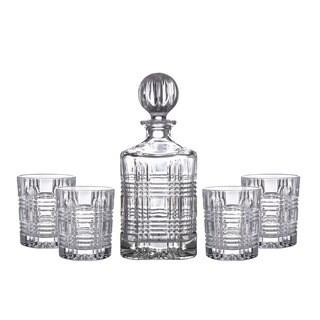 Fitz Floyd Portland Glass 5-piece Decanter & Glasses Set