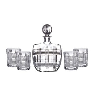 Bridgeport Crystal Whiskey Decanter Set (Set of 5)