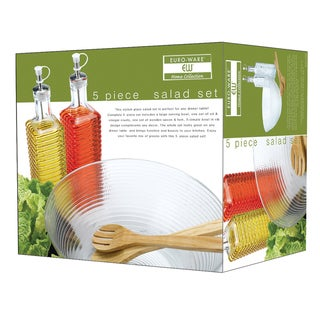 Euro-Ware 5-piece Clear Glass Salad Set