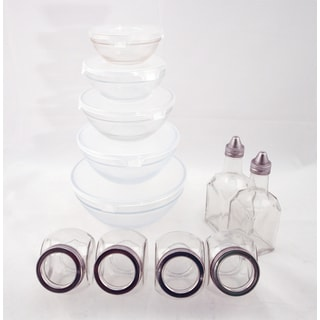 Euro-Ware 11-piece Clear Glass Pantryware Set