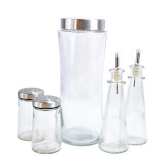 Euro-Ware Glass 5-piece Assorted Condiment Set