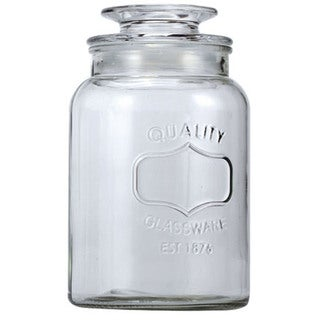 Euro-Ware Glass 1.8-liter Large Mason Jar Container