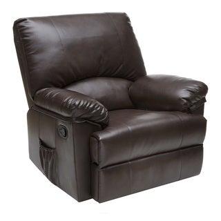 Relaxzen 60-7000 Rocker Recliner, Brown Marbled Leather