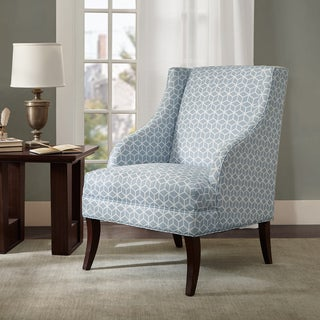 Madison Park Taton Swoop Blue Arm Chair