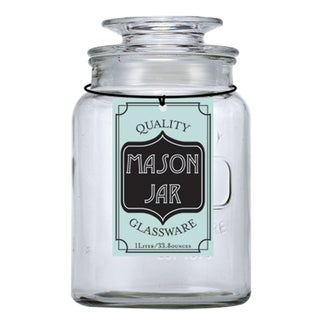 Small Glass Mason Jar Container