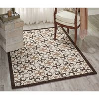Nourison Enhance Brown Area Rug