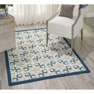 Nourison Enhance Blue Area Rug (2'6 x 4')