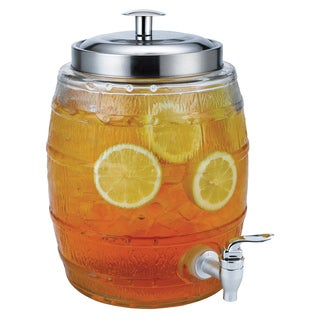 Euro-Ware 5-liter Mini Barrel Glass Beverage Dispenser