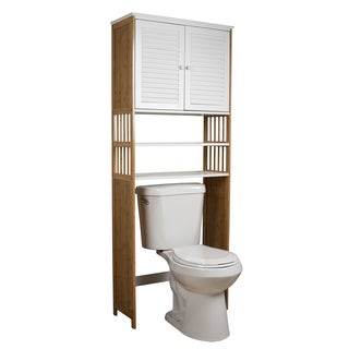 Danya B. Over the Toilet Double Door Space Saver Bamboo Cabinet
