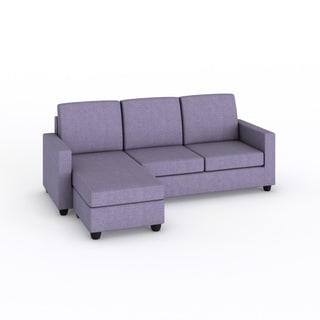 Alexandra Lavender Convertible Sectional
