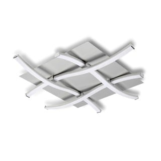 Contempo Lights Tic Tac Toe Silver-finish Aluminum Flush-mount LED Pendant Light Fixture