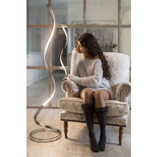Capri 63-inch LED Silver Aluminum Color-temperature Floor Lamp