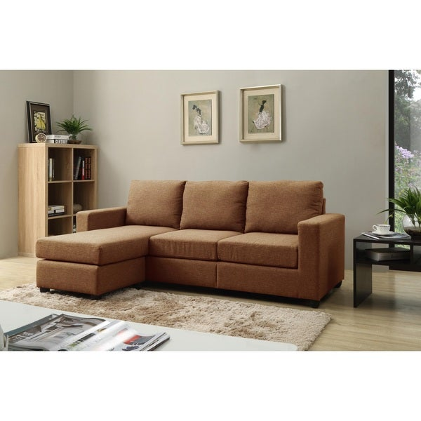 Alexandra Brown Convertible Sectional Free Shipping