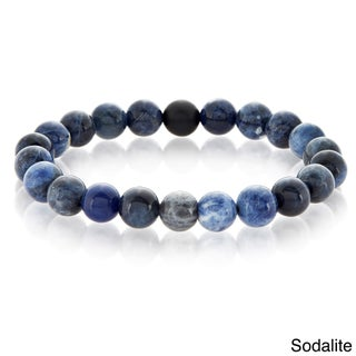 Crucible Natural Healing Stone Beaded Stretch Bracelet (10mm) (4 options available)
