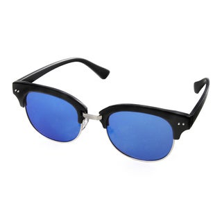 Hot Optix Men's Fashion Plastic/Metal Mirrored Round Sunglasses
