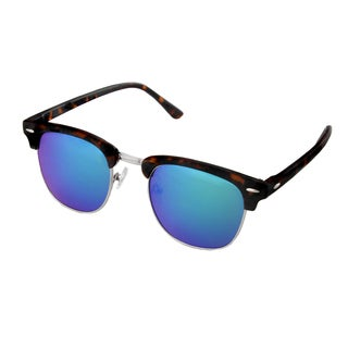 Hot Optix Men's Fashion Plastic Mirrored Round Sunglasses
