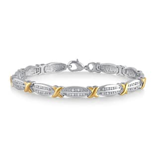 Divina Two-tone 1/4ct TDW Diamond Fashion Bracelet|https://ak1.ostkcdn.com/images/products/12371993/P19197109.jpg?impolicy=medium