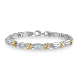 Divina Two-tone 1/4ct TDW Diamond Fashion Bracelet