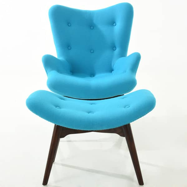 Prime Shop Poly And Bark Auzzie Lounge Chair And Ottoman In Blue Ibusinesslaw Wood Chair Design Ideas Ibusinesslaworg
