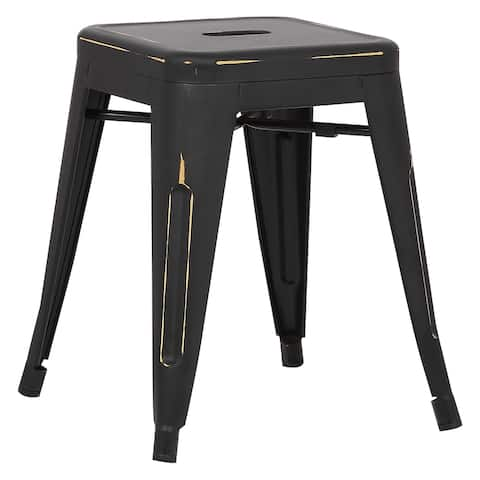 EdgeMod Trattoria 18 Inch Table Stool in Distressed Finish