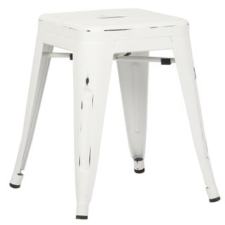 Poly and Bark Trattoria 18 Inch Table Stool in Distressed Finish