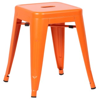 Poly and Bark Trattoria 18 Inch Table Stool Matte Finish (Option: Orange)