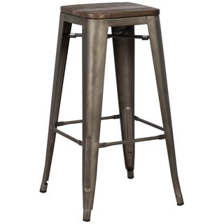 Edgemod Trattoria 30 Inch Bar Stool in Bronze