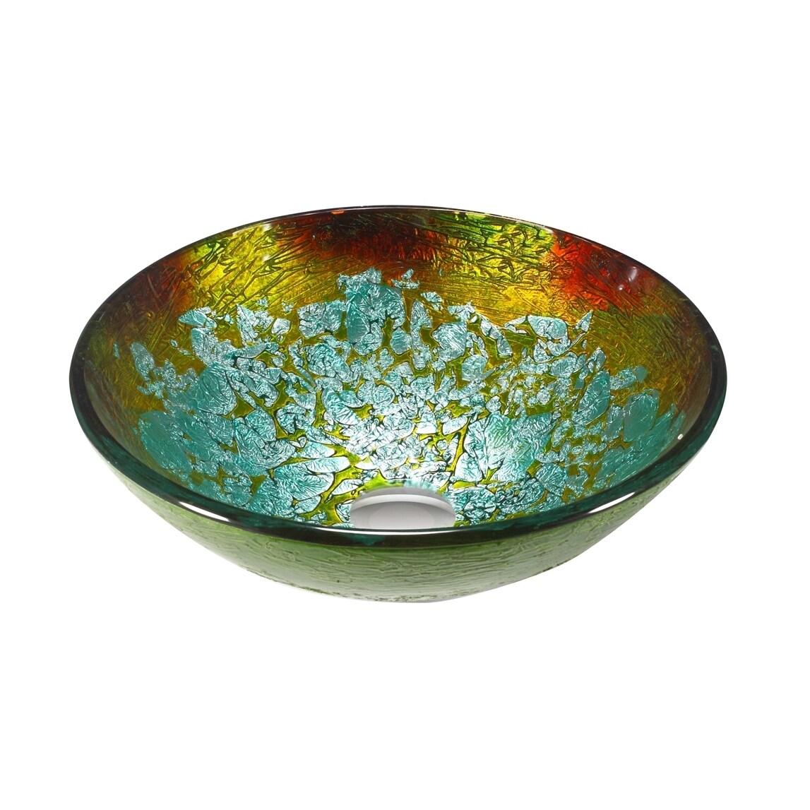Legion Furniture Multicolored Glass Sink Bowl Vessel (ZA-...